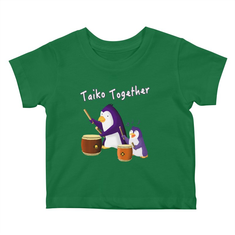 """""""Taiko Together"""" Kids Baby T-Shirt by Chung's Musical Penguins"""