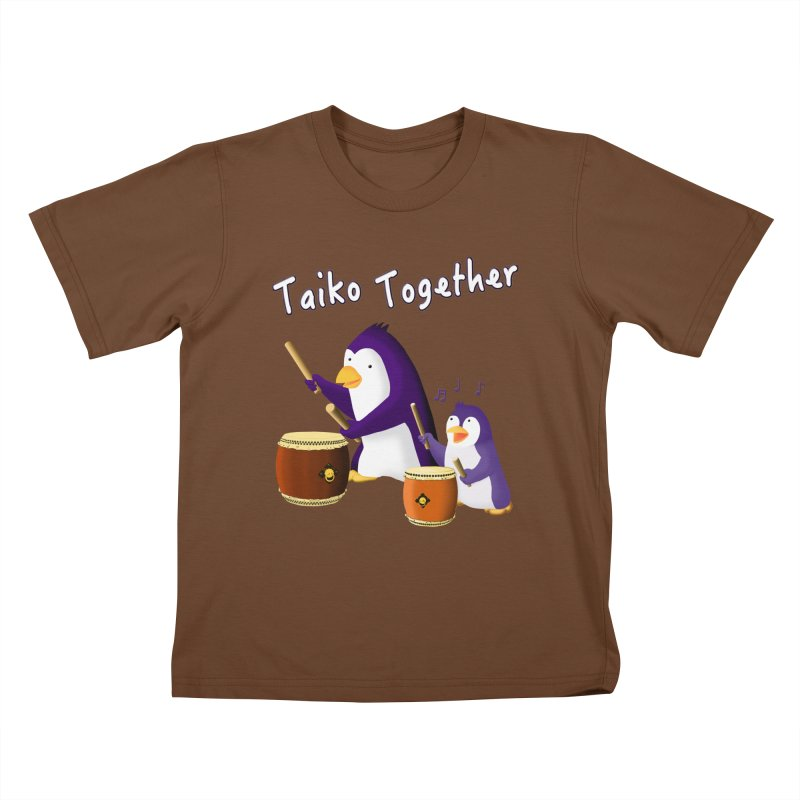 """""""Taiko Together"""" Kids T-Shirt by Chung's Musical Penguins"""