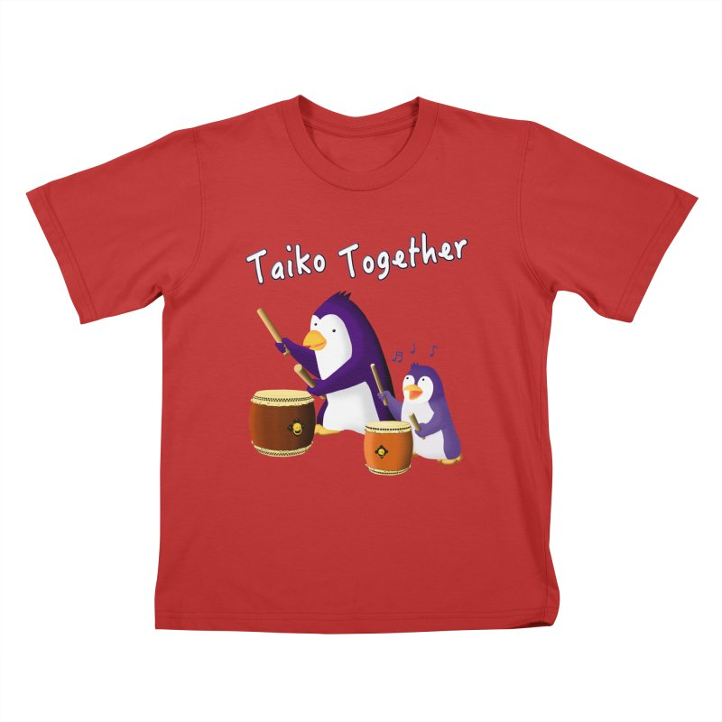 """Taiko Together"" Kids T-Shirt by Chung's Musical Penguins"