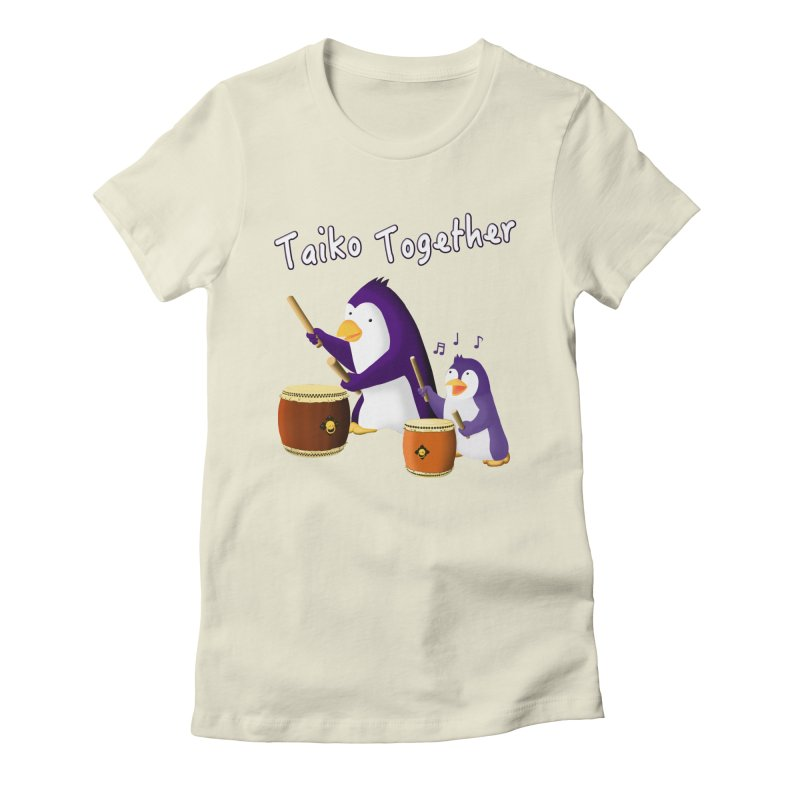 """""""Taiko Together"""" Women's Fitted T-Shirt by Chung's Musical Penguins"""