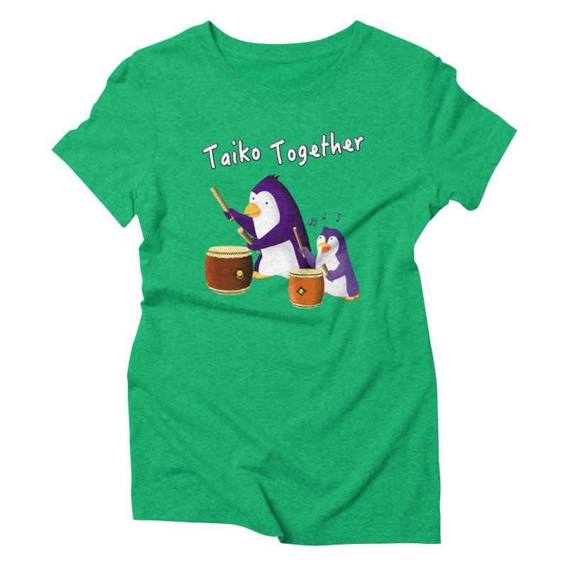 """""""Taiko Together"""" Women's Triblend T-Shirt by Chung's Musical Penguins"""