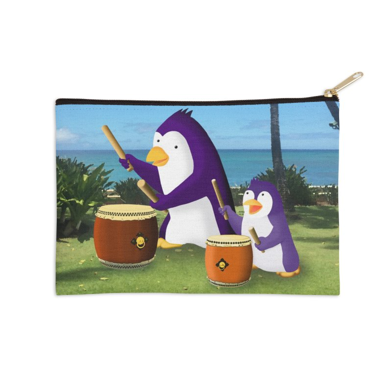 """""""Taiko Together"""" Accessories Zip Pouch by Chung's Musical Penguins"""
