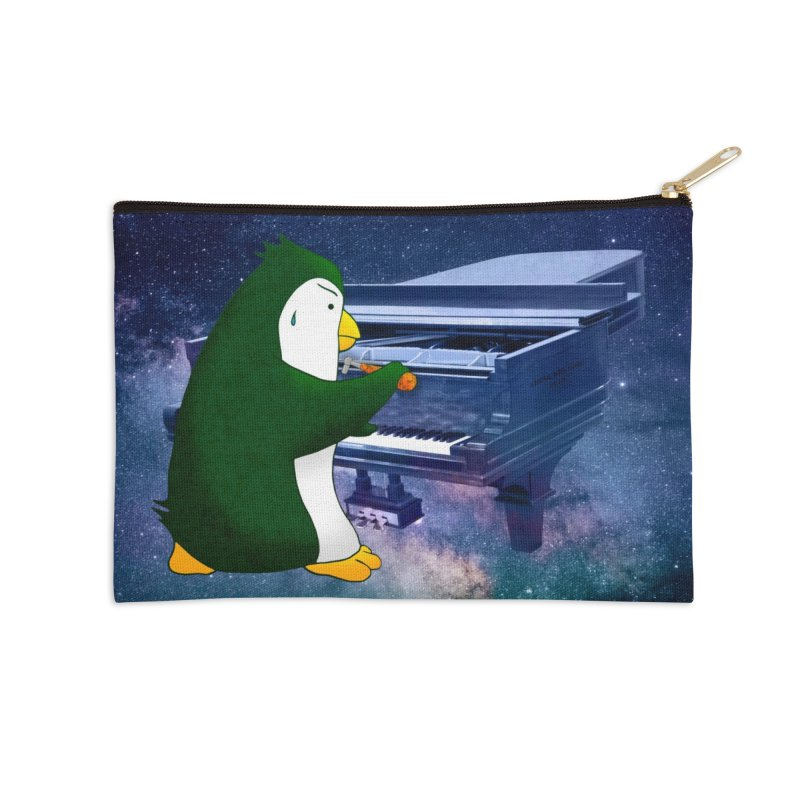 Piano Tuning Penguin (Cosmos) Accessories Zip Pouch by Chung's Musical Penguins