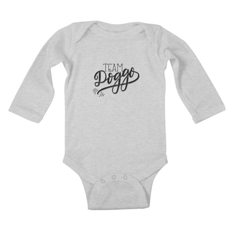 Team Doggo Kids Baby Longsleeve Bodysuit by chungnguyen's Artist Shop