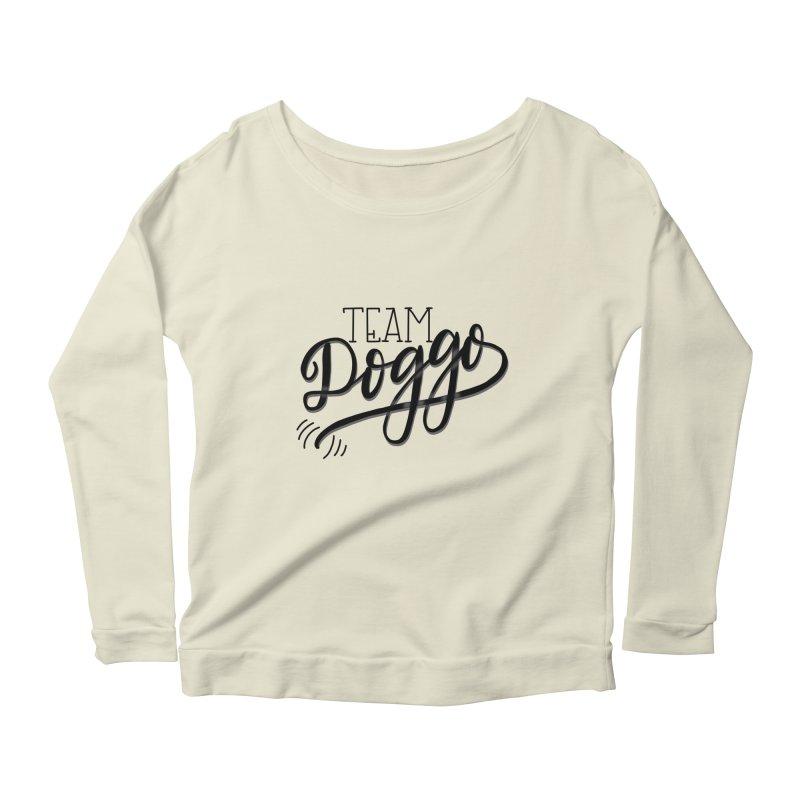 Team Doggo Women's Scoop Neck Longsleeve T-Shirt by chungnguyen's Artist Shop