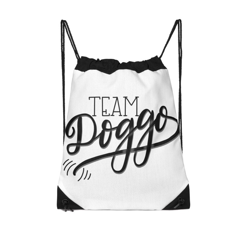 Team Doggo Accessories Drawstring Bag Bag by chungnguyen's Artist Shop