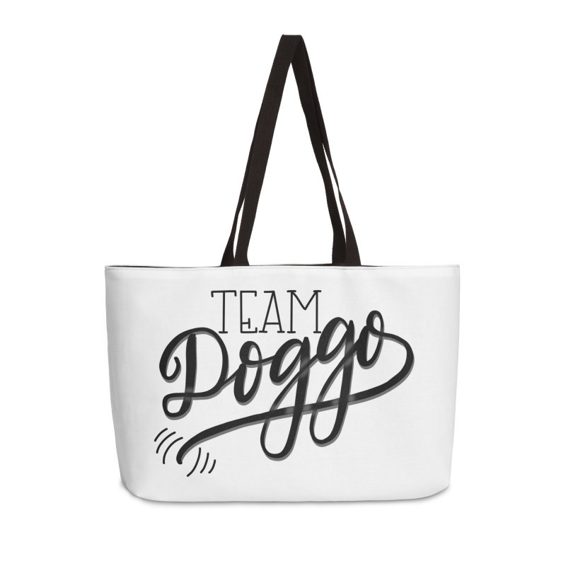 Team Doggo Accessories Weekender Bag Bag by chungnguyen's Artist Shop