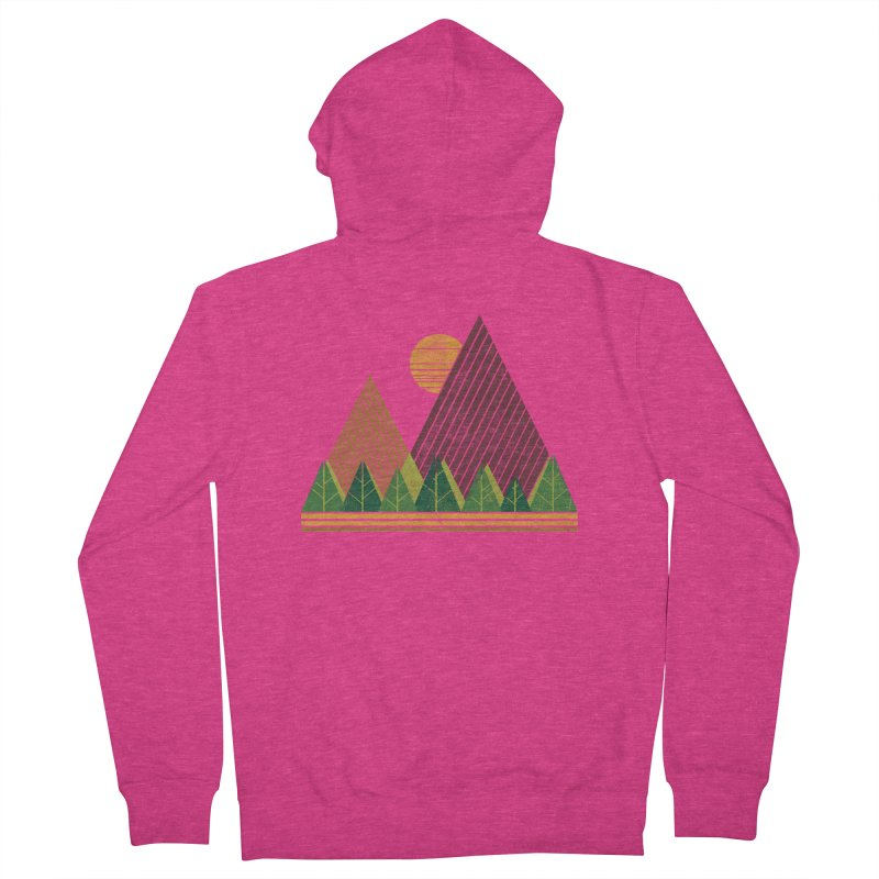 Simple Landscape (Light Version) Women's Zip-Up Hoody by chunkydesign's Artist Shop