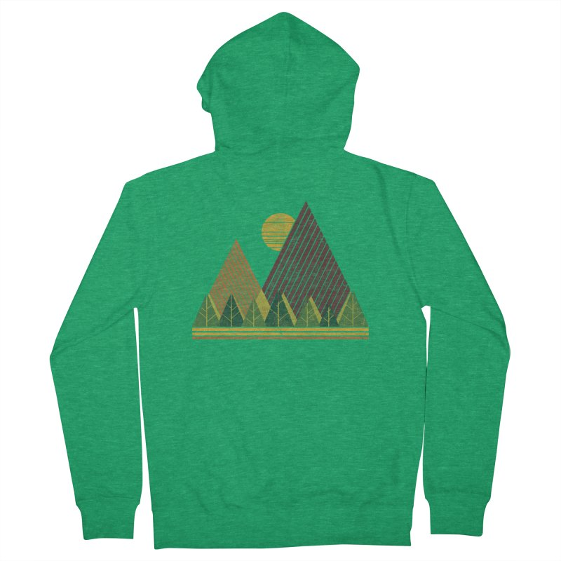 Simple Landscape (Light Version) Men's Zip-Up Hoody by chunkydesign's Artist Shop