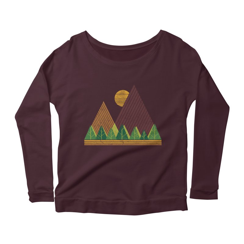 Simple Landscape (Light Version) Women's Longsleeve Scoopneck  by chunkydesign's Artist Shop