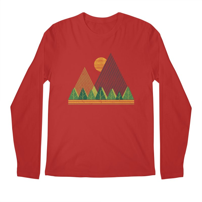 Simple Landscape (Light Version) Men's Longsleeve T-Shirt by chunkydesign's Artist Shop