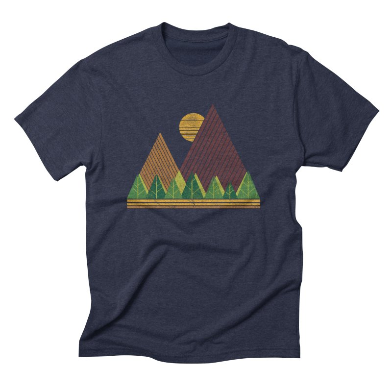 Simple Landscape (Light Version) Men's Triblend T-Shirt by chunkydesign's Artist Shop