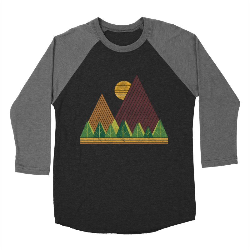 Simple Landscape (Light Version) Men's Baseball Triblend T-Shirt by chunkydesign's Artist Shop