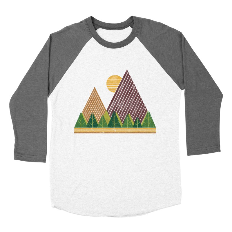 Simple Landscape (Light Version) Men's Baseball Triblend T-Shirt by chunkydesign's Artist Shop