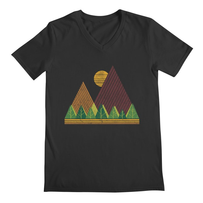Simple Landscape (Light Version) Men's V-Neck by chunkydesign's Artist Shop