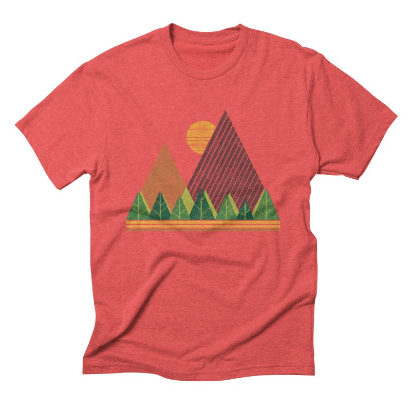 Simple Landscape (Light Version) Men's Triblend T-shirt by chunkydesign's Artist Shop
