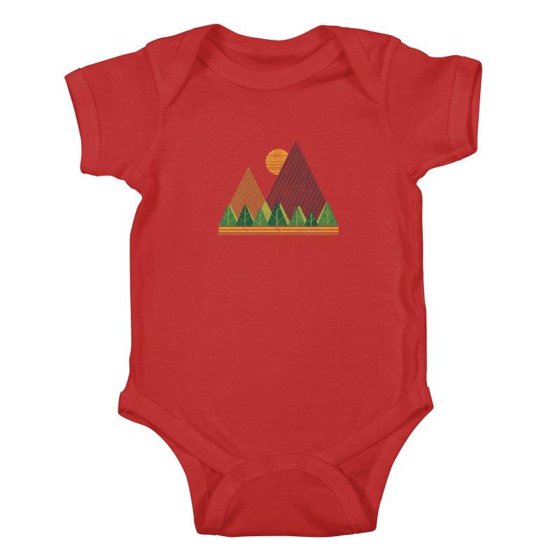 Simple Landscape (Light Version) Kids Baby Bodysuit by chunkydesign's Artist Shop