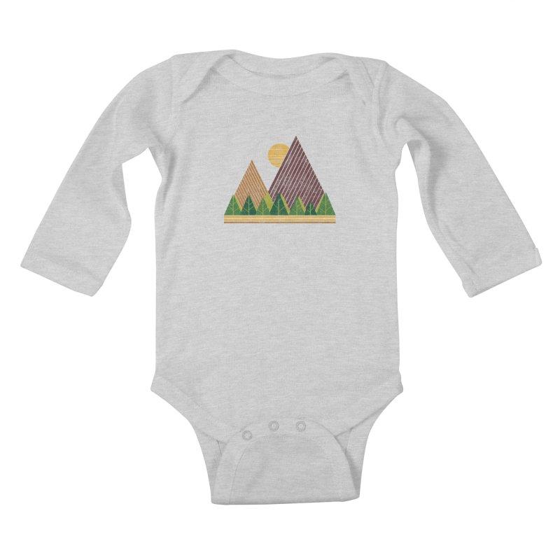 Simple Landscape (Light Version) Kids Baby Longsleeve Bodysuit by chunkydesign's Artist Shop