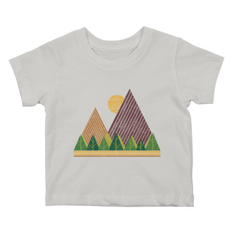 Simple Landscape (Light Version) Kids Baby T-Shirt by chunkydesign's Artist Shop