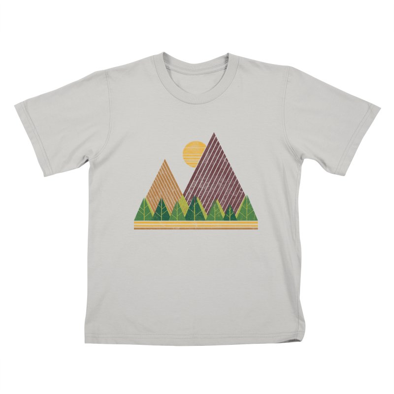 Simple Landscape (Light Version) Kids T-Shirt by chunkydesign's Artist Shop