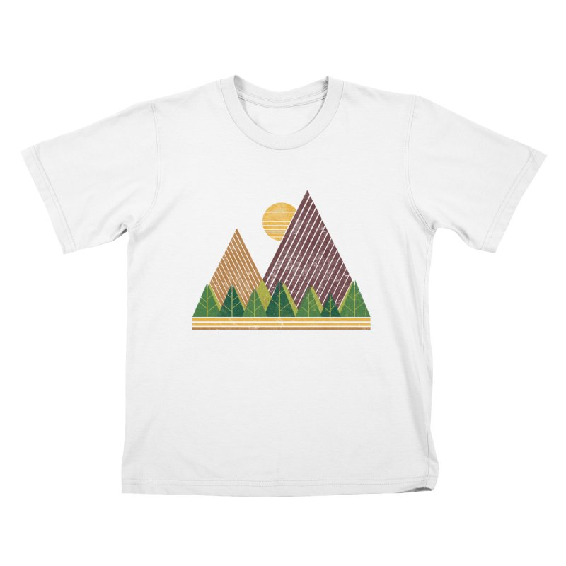 Simple Landscape (Light Version) Kids T-Shirt by chunkydesign's Artist Shop