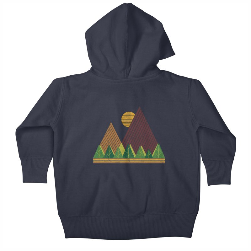 Simple Landscape (Light Version) Kids Baby Zip-Up Hoody by chunkydesign's Artist Shop