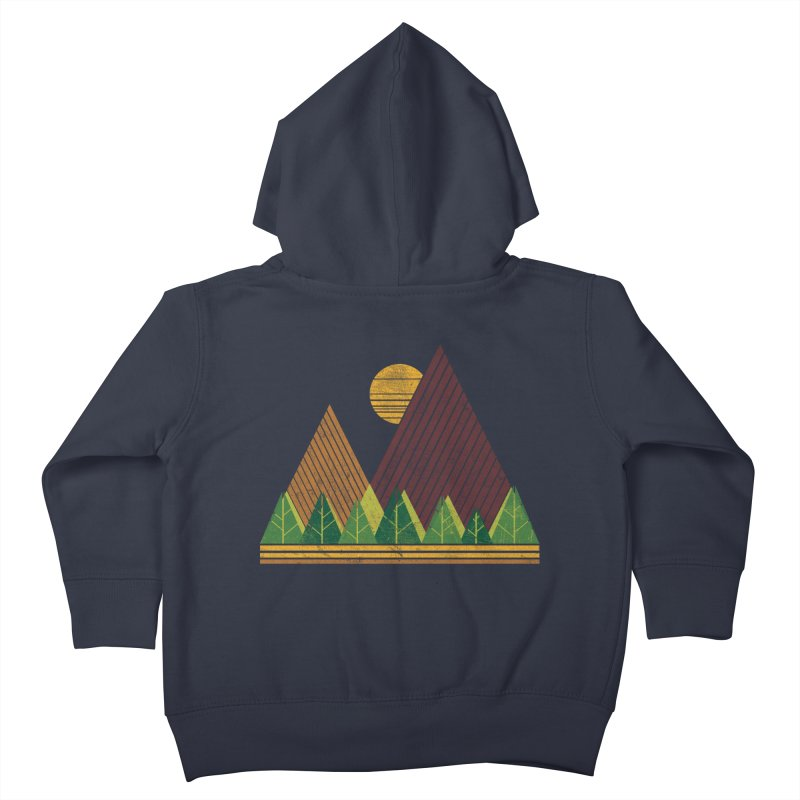 Simple Landscape (Light Version) Kids Toddler Zip-Up Hoody by chunkydesign's Artist Shop
