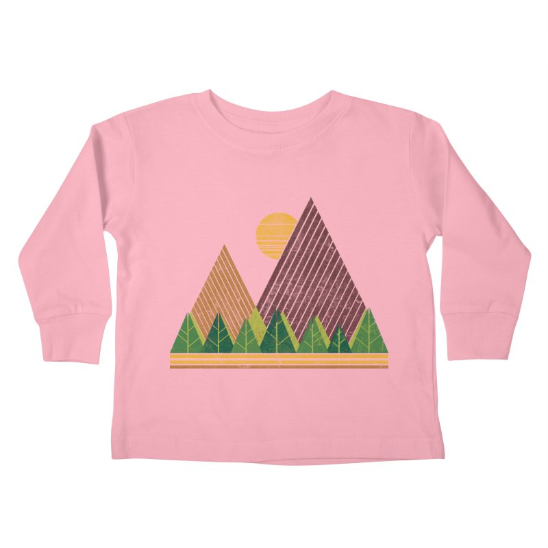 Simple Landscape (Light Version) Kids Toddler Longsleeve T-Shirt by chunkydesign's Artist Shop