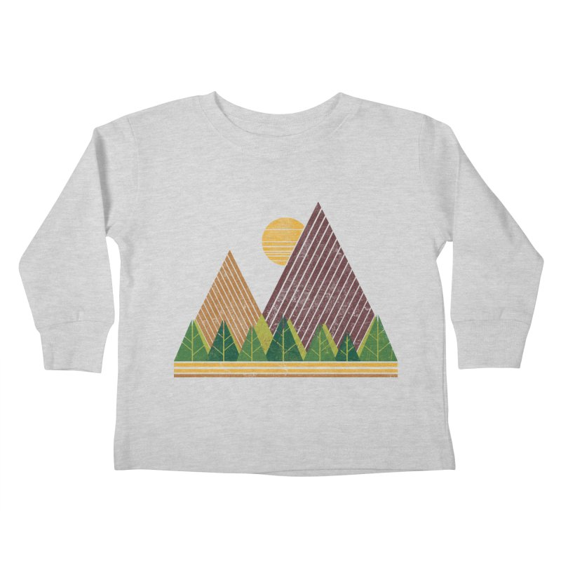 Simple Landscape (Light Version) Kids Toddler Longsleeve T-Shirt by chunkydesign's Artist Shop