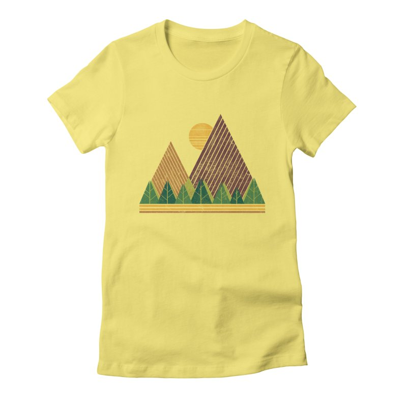 Simple Landscape (Light Version) Women's Fitted T-Shirt by chunkydesign's Artist Shop