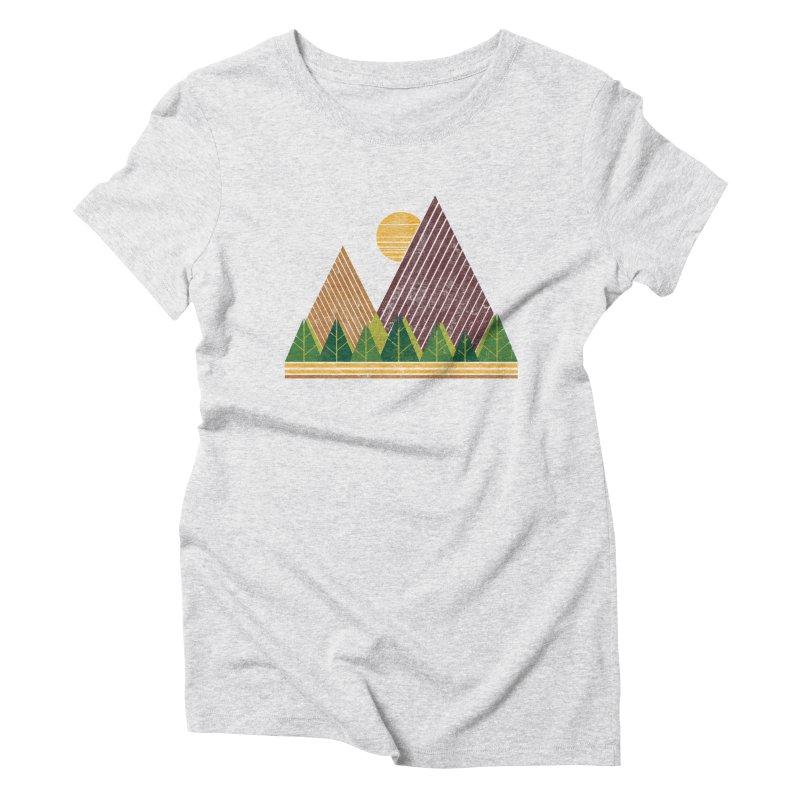 Simple Landscape (Light Version) Women's Triblend T-shirt by chunkydesign's Artist Shop