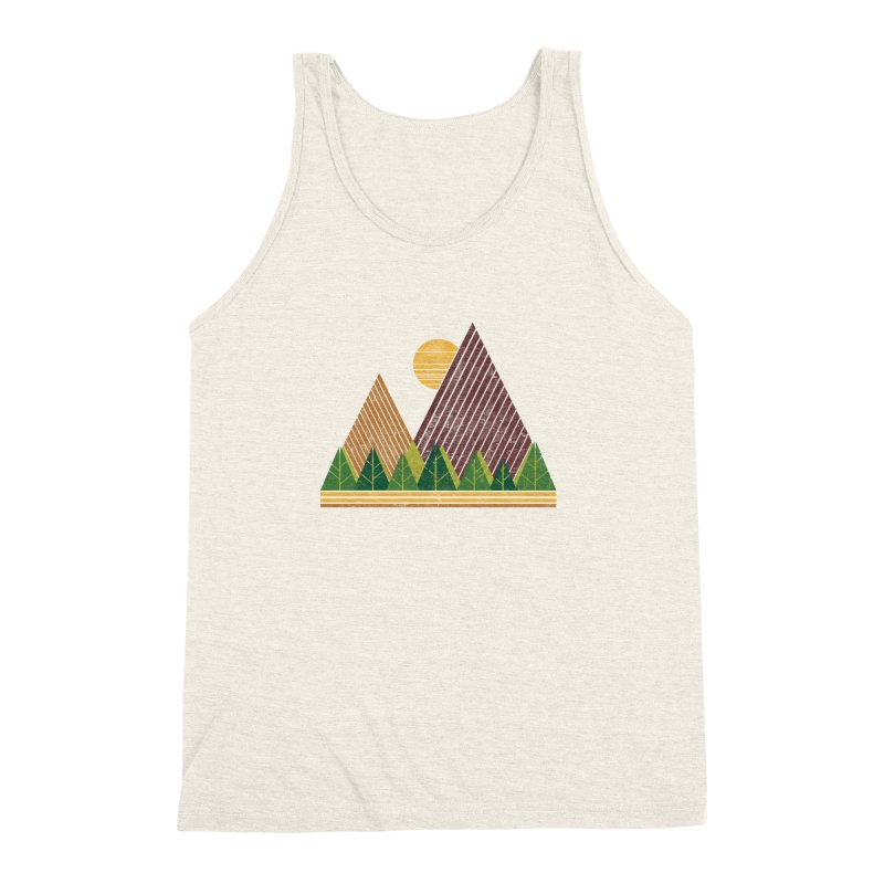 Simple Landscape (Light Version) Men's Triblend Tank by chunkydesign's Artist Shop