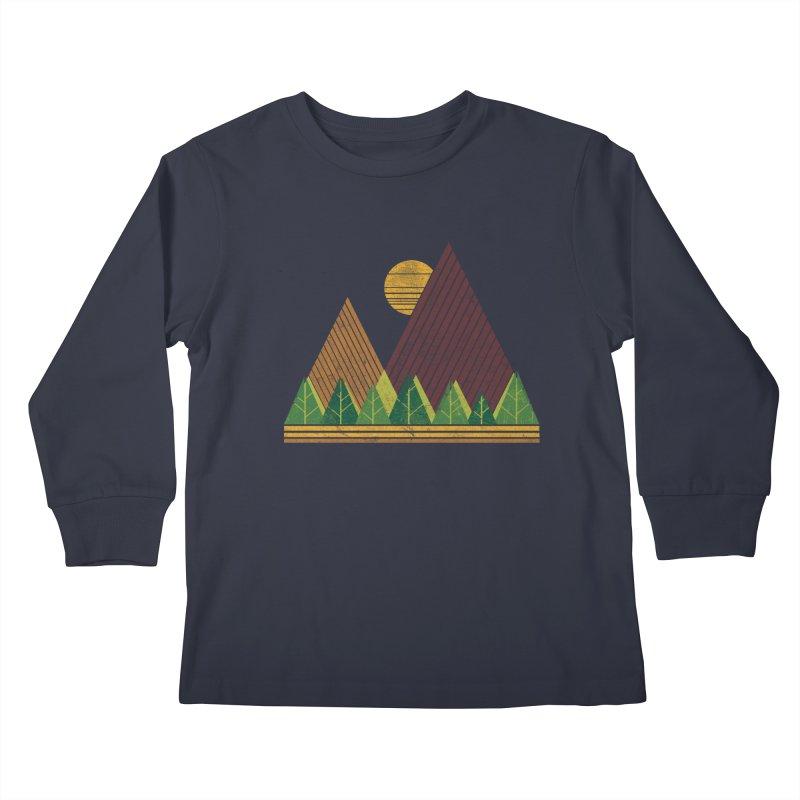 Simple Landscape (Light Version) Kids Longsleeve T-Shirt by chunkydesign's Artist Shop