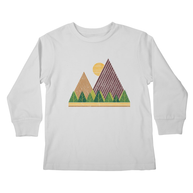 Simple Landscape (Light Version) Kids Longsleeve T-Shirt by chunkydesign's Artist Shop