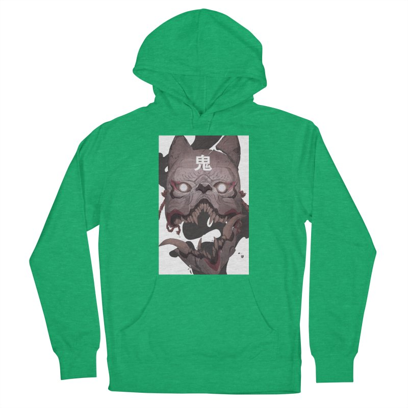 Kitsune Men's French Terry Pullover Hoody by Chun Lo's Artist Shop