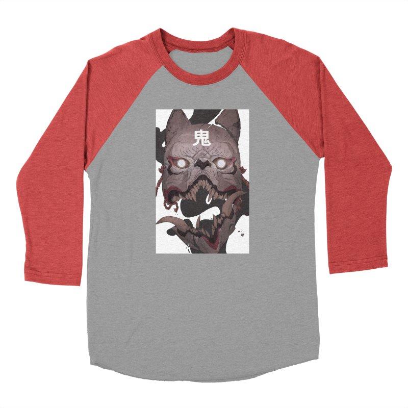 Kitsune Women's Baseball Triblend Longsleeve T-Shirt by Chun Lo's Artist Shop