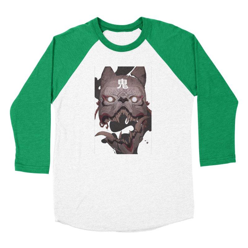 Kitsune Men's Baseball Triblend Longsleeve T-Shirt by Chun Lo's Artist Shop