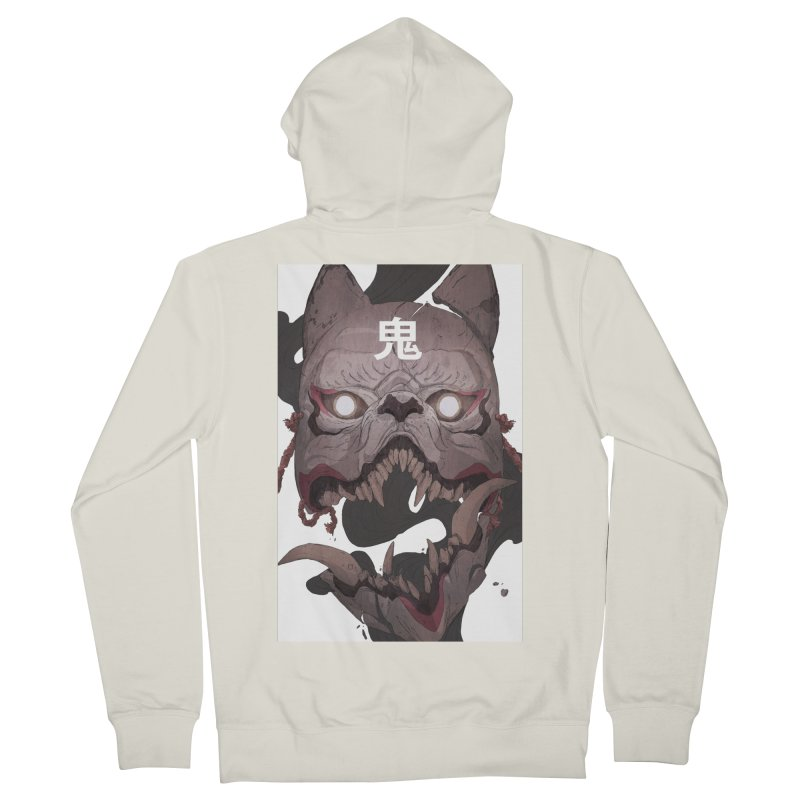 Kitsune Men's French Terry Zip-Up Hoody by Chun Lo's Artist Shop
