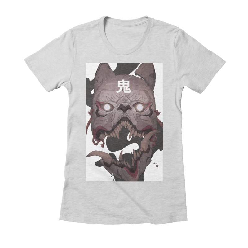Kitsune Women's Fitted T-Shirt by Chun Lo's Artist Shop