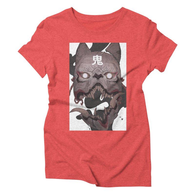 Kitsune Women's Triblend T-Shirt by Chun Lo's Artist Shop