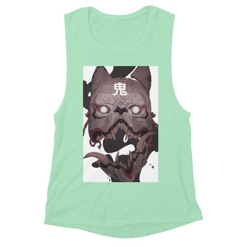 Kitsune Women's Muscle Tank by Chun Lo's Artist Shop