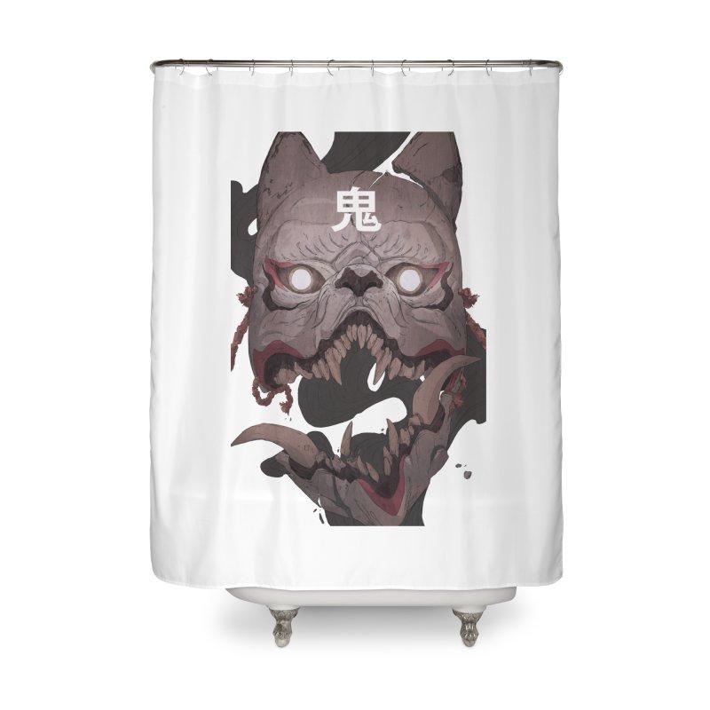 Kitsune Home Shower Curtain by Chun Lo's Artist Shop