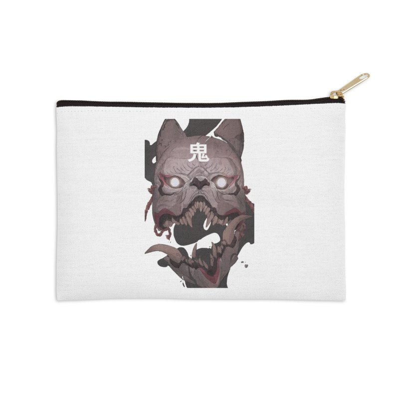 Kitsune Accessories Zip Pouch by Chun Lo's Artist Shop