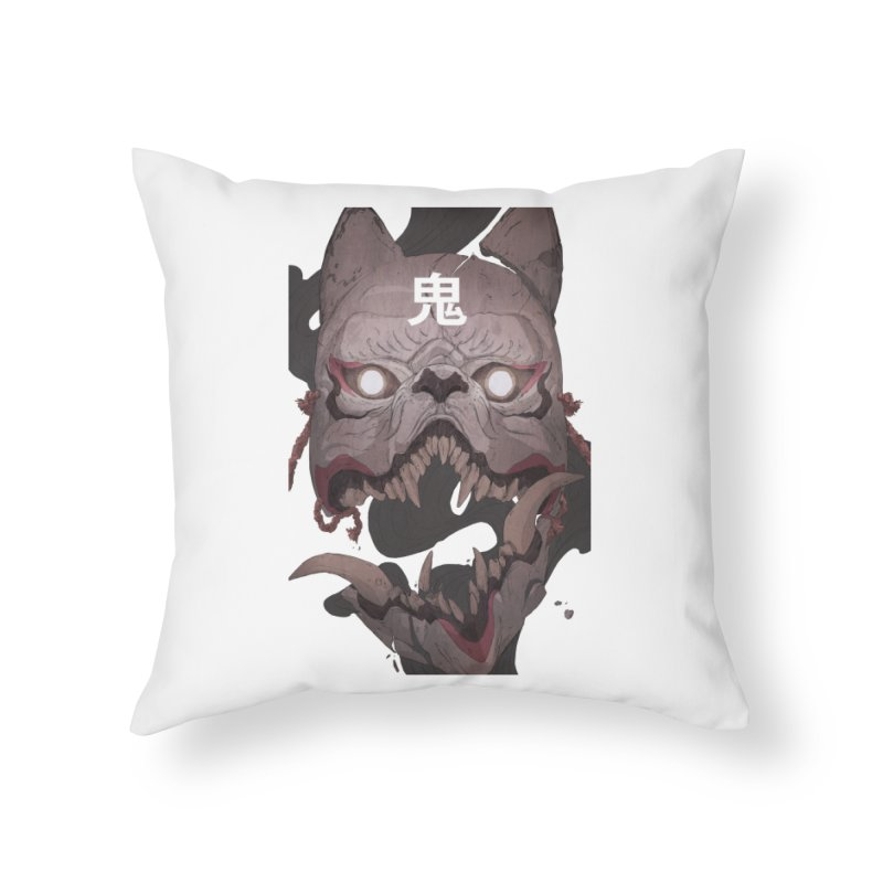 Kitsune Home Throw Pillow by Chun Lo's Artist Shop