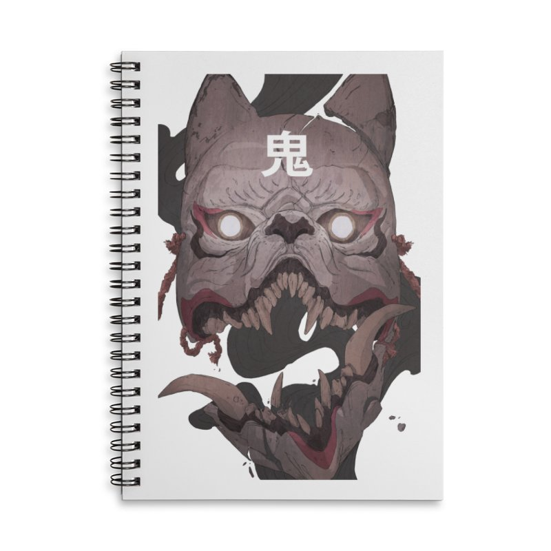 Kitsune Accessories Lined Spiral Notebook by Chun Lo's Artist Shop