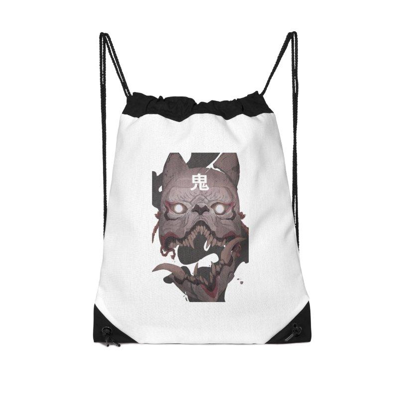 Kitsune Accessories Drawstring Bag Bag by Chun Lo's Artist Shop