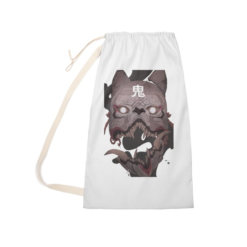 Kitsune Accessories Laundry Bag Bag by Chun Lo's Artist Shop