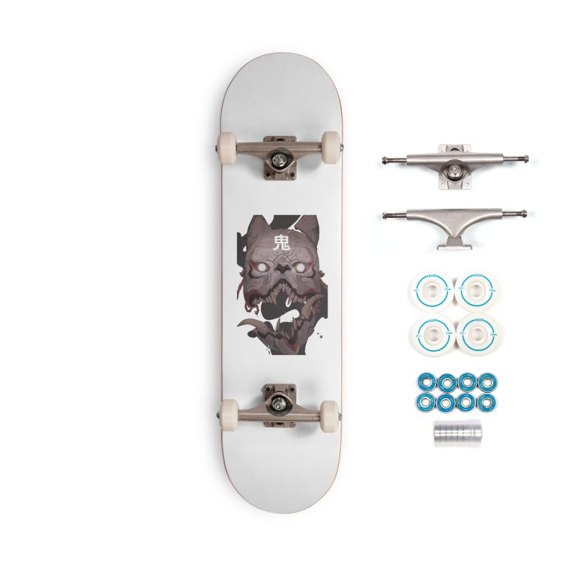 Kitsune Accessories Complete - Basic Skateboard by Chun Lo's Artist Shop