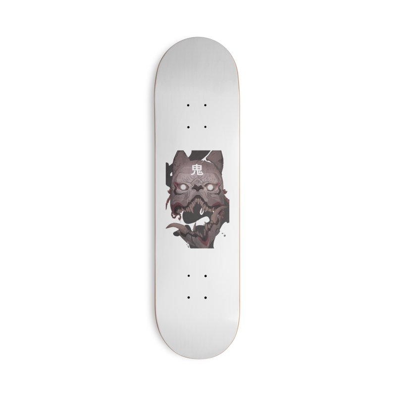 Kitsune Accessories Deck Only Skateboard by Chun Lo's Artist Shop