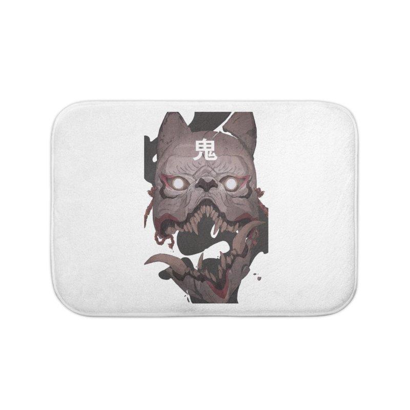 Kitsune Home Bath Mat by Chun Lo's Artist Shop
